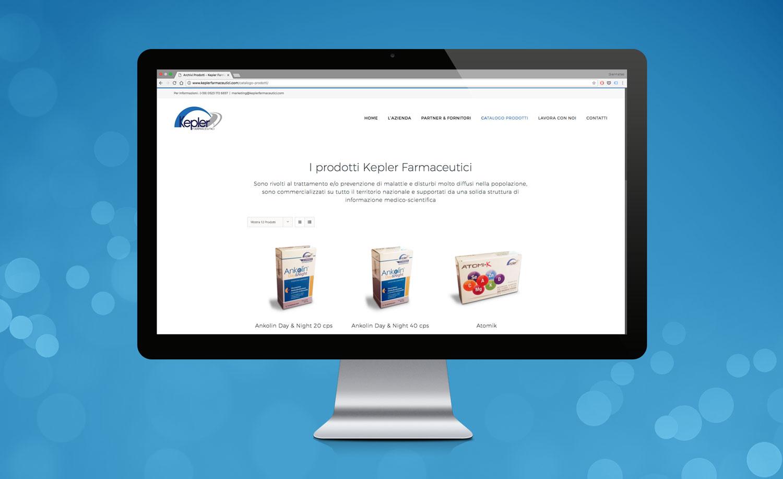 Realizzazione Sito Web Kepler Farmaceutici